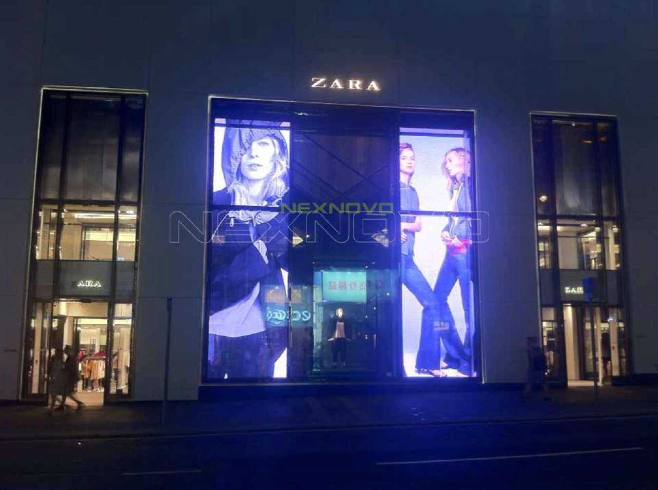 Hong Kong ZARA flagship transparent LED display project