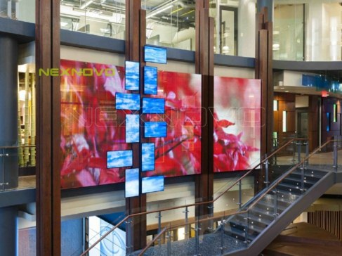 Canada BlueShore Financial HeadQuarter glass media facade transparent LED display project