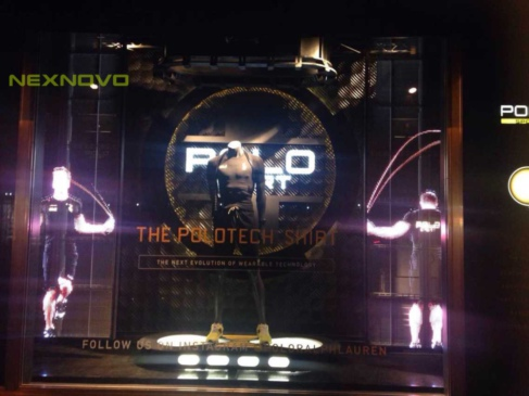 New York The Fifth Avenue POLO brand shop glass LED display