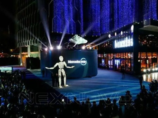 Beijing Benz transparent LED project