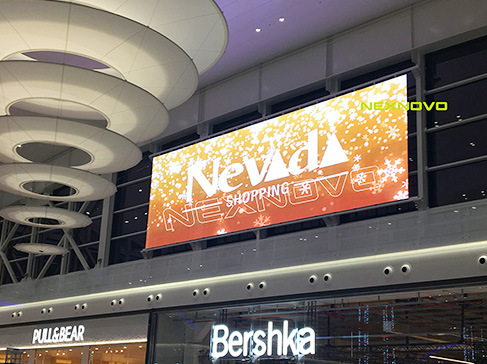 NEVADA Shopping mall with NEXNOVO transparent LED screen