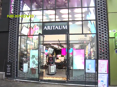 NEXNOVO transparent LED display for ARITAUM