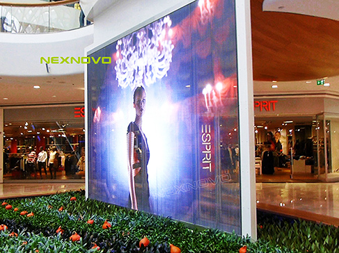 Vienna, Austria double-sided transparent LED screen