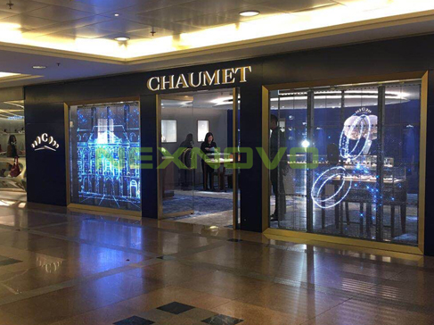 NEXNOVO transparent LED display for Chaumet jewellery store in HK