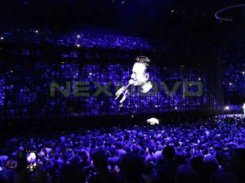 U2 concert Transparent LED display