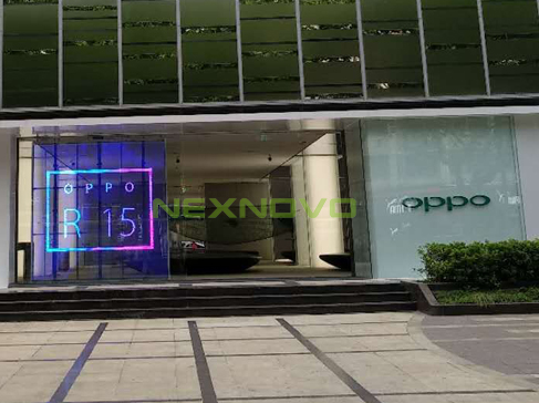 Oppo flagship store transparent LED display