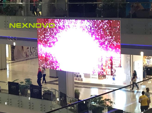 Point90 shopping mall LED transparent display