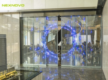 Inform before they even step in! NEXNOVO Transparent LED Sliding Doors