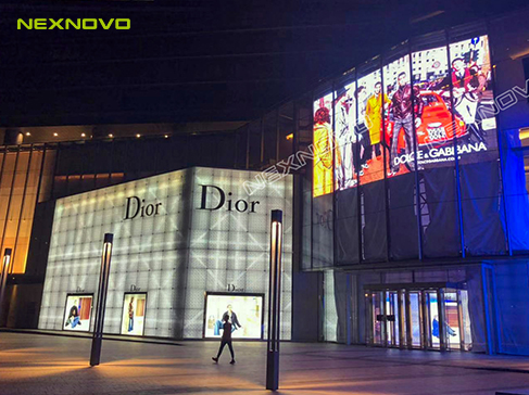 Customized transparent LED display for ONE Central Plaza in Macau