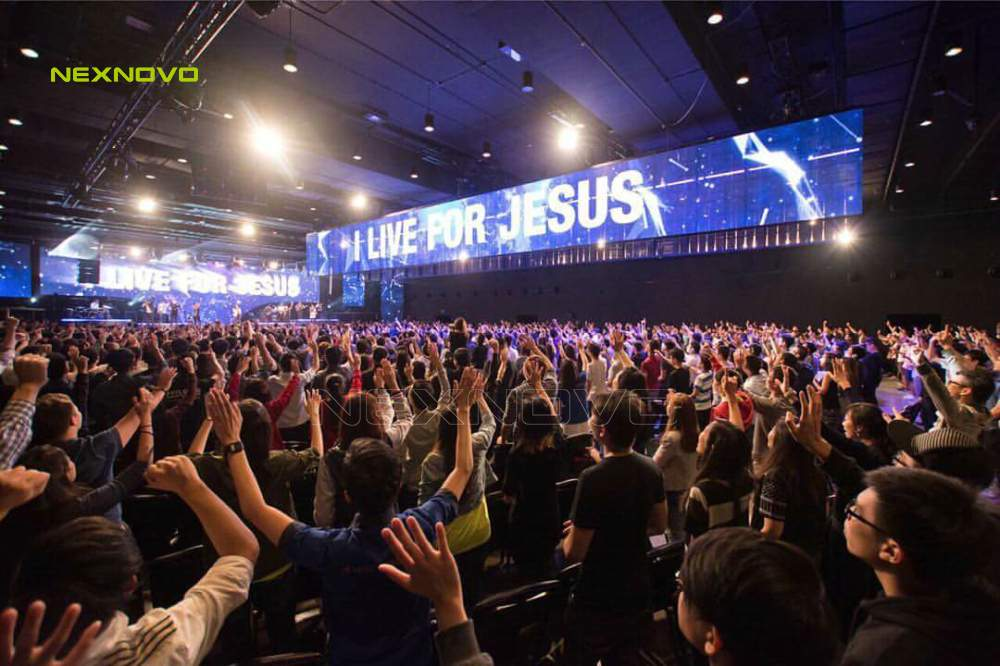 Singapore Church transparent LED display project